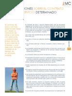 CONSIDERACIONES SOBRE EL CONTRATO DE OBRA O SERVICIO DETERMINADO