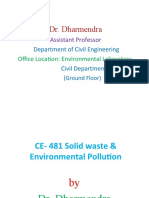 CE 481 Solid waste & Environmental Pollution