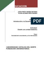 Unidad didactica - TIC y educacion (sociedadConocimeinto)