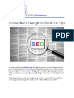A Dissection Of Google's Official SEO Tips