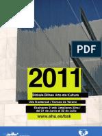 Folleto Cursos de Verano 2011 - Universidad del País Vasco (Bizkaia)