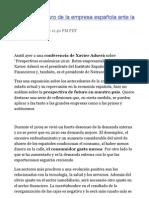presente y futuro de la empresa española ante la crisis