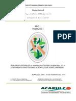 Reglamento Interno de la Administración Pública Municipal del H. Ayuntamiento Constitucional de Acapulco de Juárez, Guerrero.