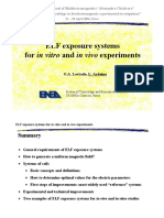ELF exposure systems for in vitro and in vivo experiments