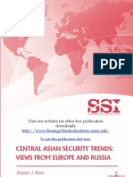 Central Asian Security Trends, Views from Europe and Russia