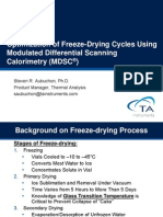 Optimization of Freeze Drying