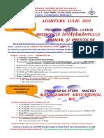 AFIS Promovare admitere PIPP si ME iulie2021