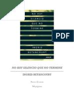 Primeras Paginas No Hay Silencio No Termine, Ingrid Betancourt