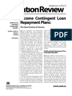 CAUT 2006, Income Contingent Loan Repayment