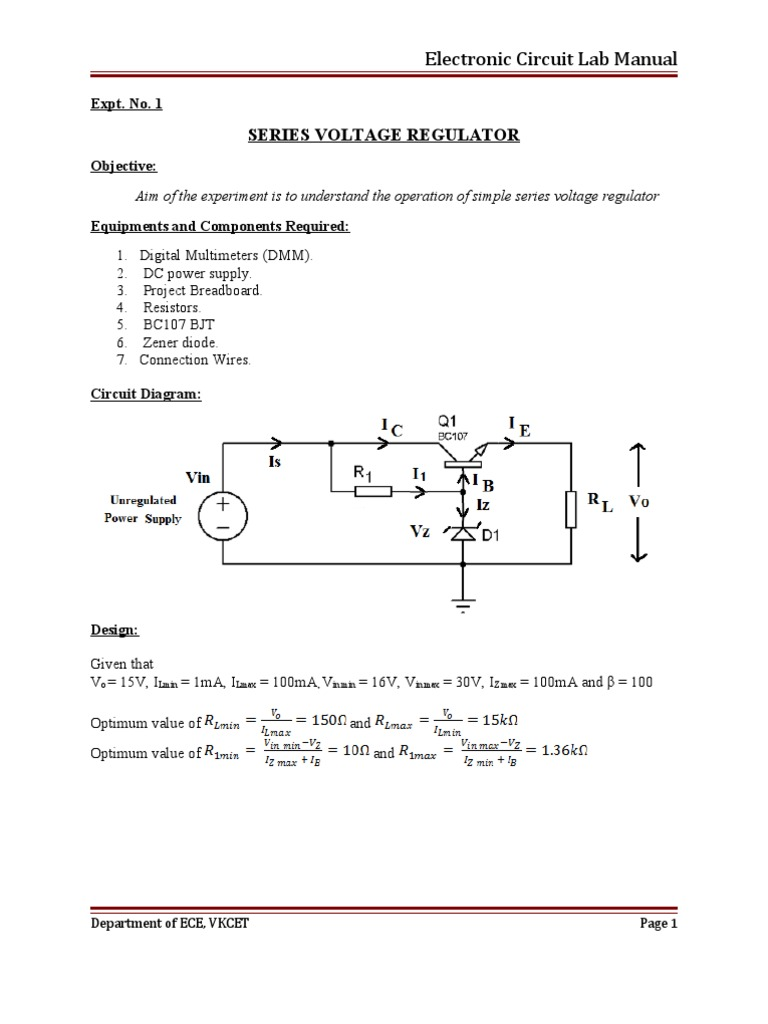 ece lab manual ece 315 1 department of electrical and computer engineering, cornell university ece 3150: microelectronics spring 2018 lab 1 due one week after your lab day in the course lab dropbox.