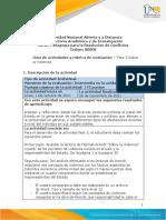 Guía de actividades y rúbrica de evaluación - Unidad 2 - Fase 3 - Sobre la Violencia