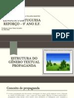 Estrutura Textual do Gênero Propaganda - 9° Ano - 02 e 09-09-2021