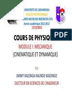 Cours de Physique i Mecanique Elements de Calc (1)
