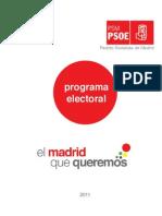 PROGRAMA ELECTORAL PSM 2011