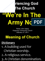 03-13-2011 Experiencing God in the Church-The Army of God