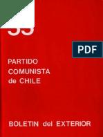 Boletín del Exterior Partido Comunista de Chile Nº55