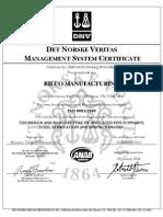 ri6335cert ISO cert