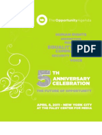 The Opportunity Agenda - 5th Anniversary Program