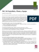 NIC 16 PROPIEDAD, PLANTA Y EQUIPO