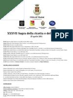 InfoVizzini.it - Programma Sagra della ricotta 2011 Vizzini