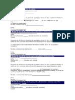 modelos de derechos de peticion