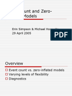 Event Count and Zero-Inflated Models