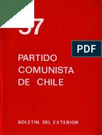 Boletín del Exterior Partido Comunista de Chile Nº57