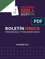 Boletín candidaturas presidenciales y parlamentarias