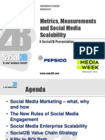 Social Media Week Presentation from Social2B - Metrics, Measurements and Scalability - Master