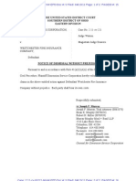 DIMENSION SERVICE CORPORATION v. WESTCHESTER FIRE INSURANCE COMPANY Notice of Dismissal