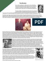 Paul Brunton - A Brief Biography