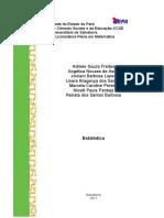 Estatistica, metodologia e dificuldades