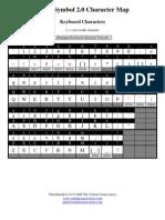 ChordSymbol 2 Character Map