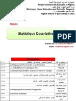 Statistique DESCRITIVE 2020-2021