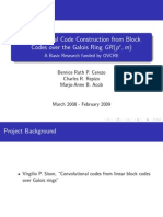 Convolutional code construction from block codes over the Galois Ring GR(pr ;m)