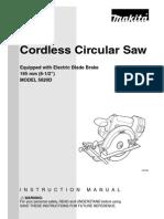 5620D - battery circular saw manual