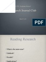 ICDL Research Journal Club 031511