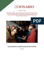 XXII Domingo Después de Pentecostés. Leccionario