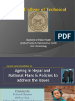National Plans and policies to address ageing issues in Nepal