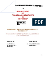 HDFCSLIC - Recruitment
