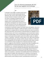 Leresia Antiliturgica e La Riforma Protestante Del XVI Secolo Considerata Nei Suoi Rapporti Con La Li