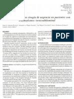 Morbimortalidad en Cirugia de Urgencia en Pacientes Con Traumatismo torocoabdominal