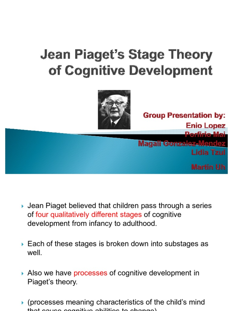 jean piagets stage theory of cognitive development cognitive development schema psychology