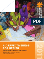 Aid Effectiveness for Health 2011