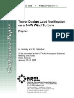 Tower Design Load Verification on a 1-kW Wind Turbine-37112