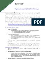 APA Reference System