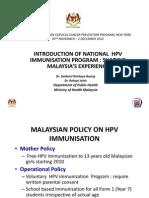Hpv Immunisation - Malaysia