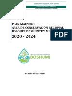Plan Maestro Área de Conservación Regional Bosques de Shunte y Mishollo - Para Revision