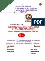 Market Comparison of Cadbury, Nestle & Gsk