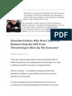 Extortion Politics
